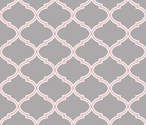 Pink and Cashmere Lily Trellis fabric by sparrowsong on Spoonflower - custom fabric