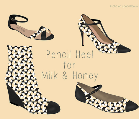 Pencil Heel Geo Pattern