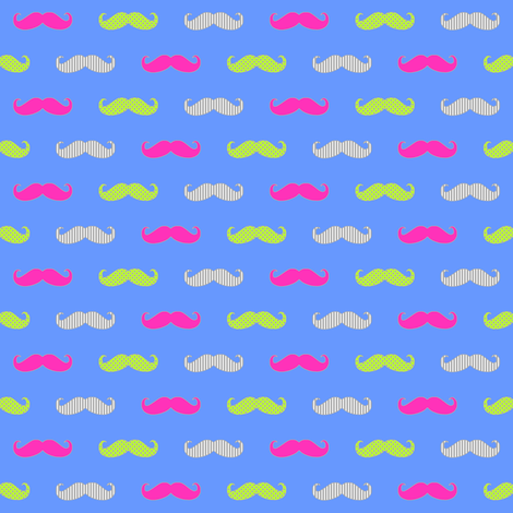 MoustachePrintPlainPinkLime