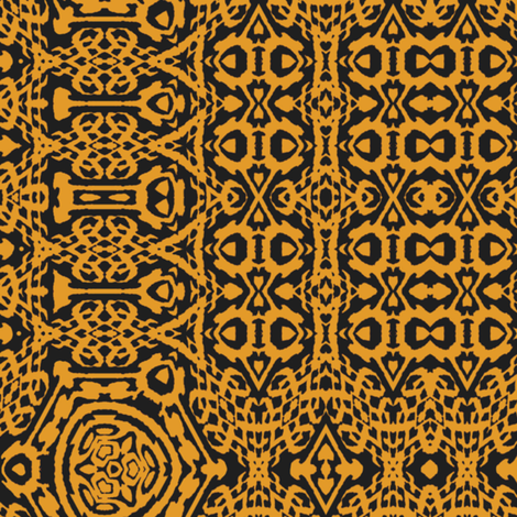 Butterscotch Brocade fabric by wren_leyland on Spoonflower - custom fabric