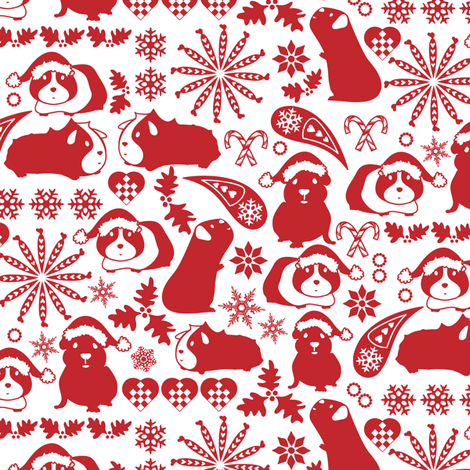 Cavy Christmas fabric by ebygomm on Spoonflower - custom fabric