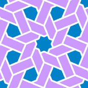 octagonal star X weave