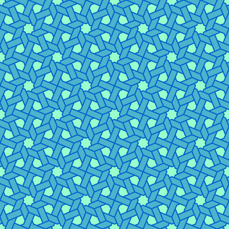 octagonal star weave X fabric by sef on Spoonflower - custom fabric