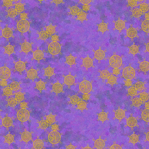 Seven Sisters in Space Violet Impressionistic Version
