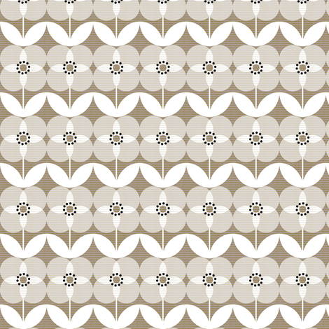 geo floral fabric by ottomanbrim on Spoonflower - custom fabric