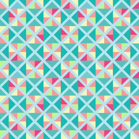 Sherbet-inspired geometric print fabric by garviek on Spoonflower - custom fabric