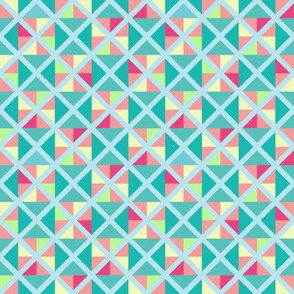 Sherbet-inspired geometric print