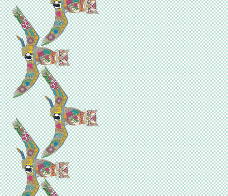 air kittens border print fabric by scrummy on Spoonflower - custom fabric