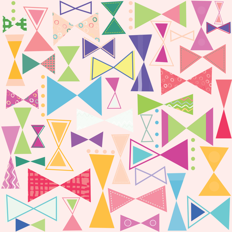 Sweet Bows fabric by cocogigidesign on Spoonflower - custom fabric