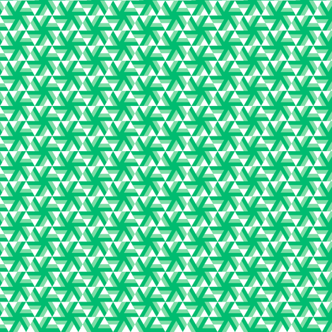 Emerald Pinwheel fabric by catbaconcreative on Spoonflower - custom fabric