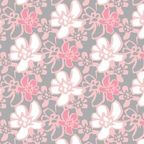 Camelia Woodcut - Pink