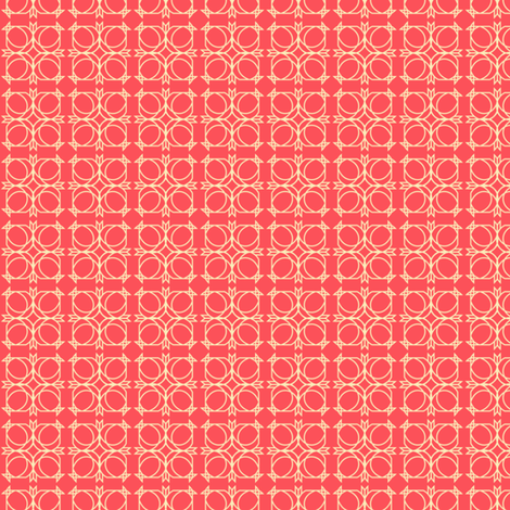square the circles fabric by golden_tangerine on Spoonflower - custom fabric