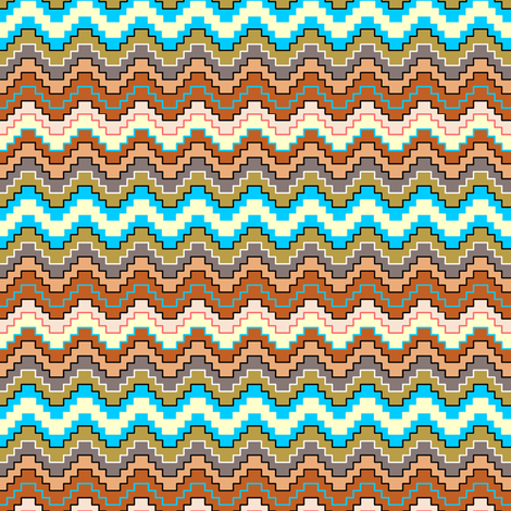 Stepped Chevron Desert Earth tones fabric by beesocks on Spoonflower - custom fabric