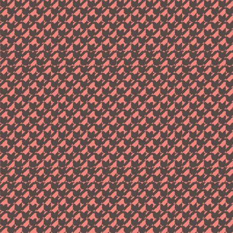 Ikat Houndstooth Hearts fabric by vetmari on Spoonflower - custom fabric
