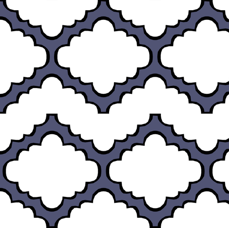 Fluffy Chevron Geometric Blue fabric by pond_ripple on Spoonflower - custom fabric