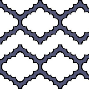 Fluffy Chevron Geometric Blue
