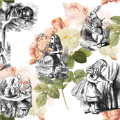 Alice in Wonderland Pink Roses