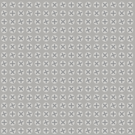 Screw Heads fabric by mouo on Spoonflower - custom fabric