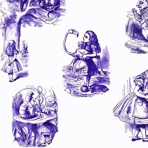 Alice in Wonderland collage purple