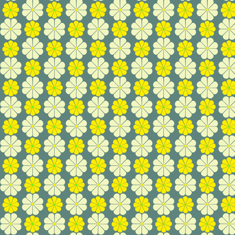 Nefertiti Daisy fabric by paintedstudioartdesign@gmail_com on Spoonflower - custom fabric