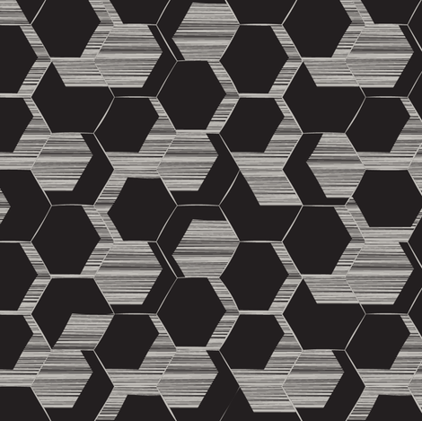 Honeycomb fabric by fourthirteen on Spoonflower - custom fabric