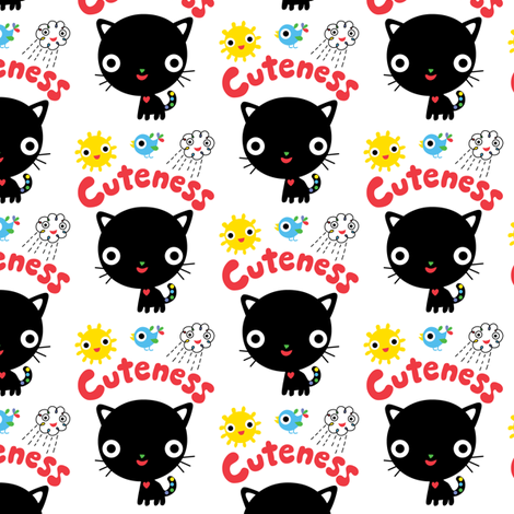 Cuteness Kitten fabric by andibird on Spoonflower - custom fabric