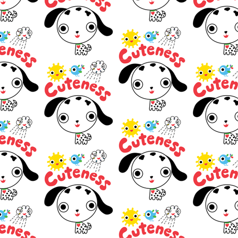 Cuteness Puppy fabric by andibird on Spoonflower - custom fabric