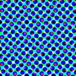 CMYK dots - steel blue