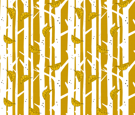 fall woods fabric by mummysam on Spoonflower - custom fabric