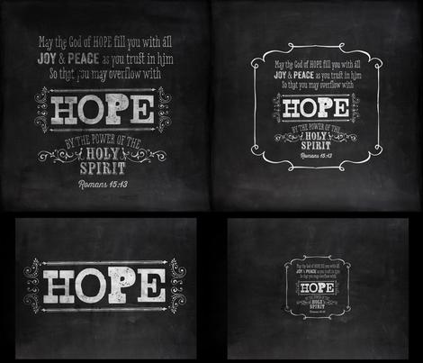 Hope Chalkboard DYI Pillow