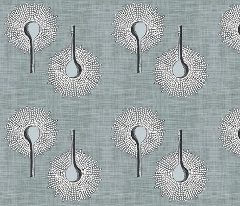 Aspergillus Gray fabric by brainsarepretty on Spoonflower - custom fabric