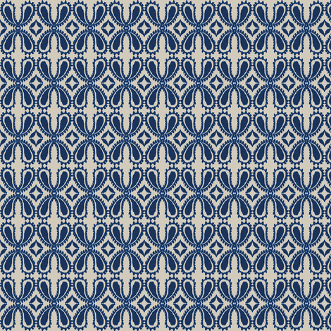 Paisley floral - in indigo fabric by fable_design on Spoonflower - custom fabric