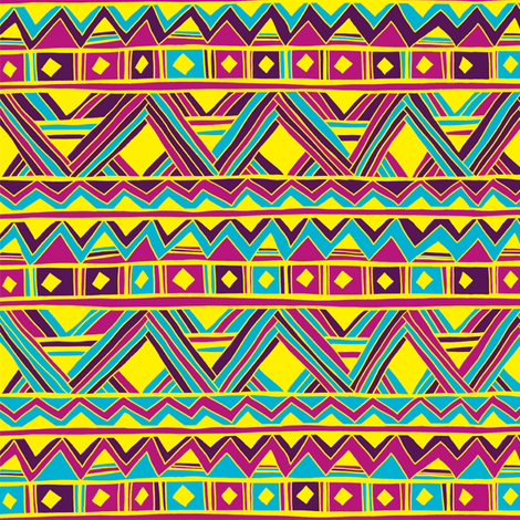 geometric fiesta fabric by mandakay on Spoonflower - custom fabric