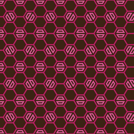 Berried Hex fabric by hootenannit on Spoonflower - custom fabric