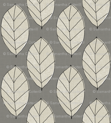 gray leaves
