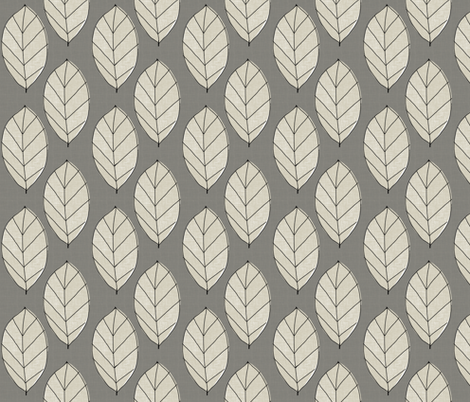 gray leaves fabric by mummysam on Spoonflower - custom fabric