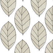 beige leaves
