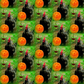 Rooster Halloween-green
