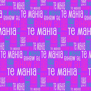 Personalised Name Fabric - Purple Pink Green White