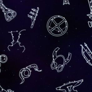 Skyrim Skills Constellations (Large Scale)
