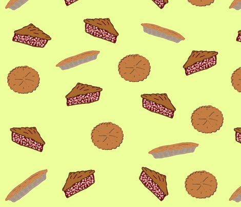 Pies Pies Pies fabric by ravynscache on Spoonflower - custom fabric