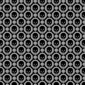 8-bit Bones and Skulls (grey)