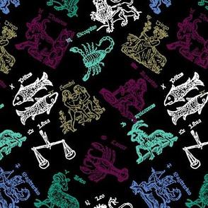 Dark Zodiac Woodblock