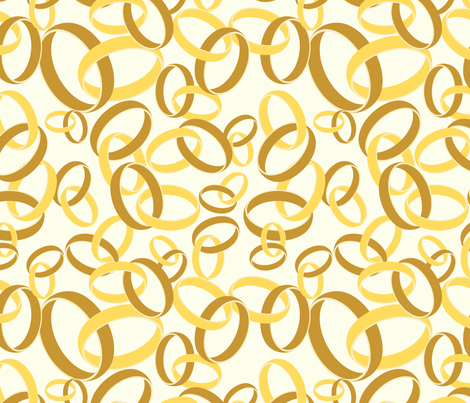 Golden Rings fabric by studiofibonacci on Spoonflower - custom fabric