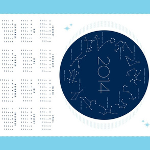 2014 Stitch the Stars Calendar Tea Towel