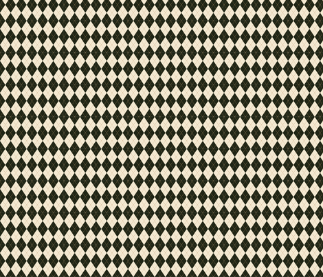 Argyle in Green and Cream fabric by jolenebalyeatdesigns on Spoonflower - custom fabric