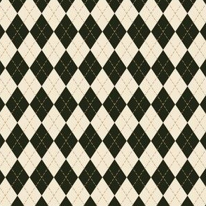 Argyle in Green and Cream