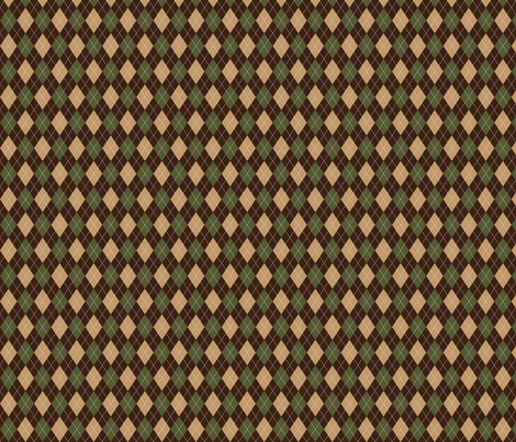 Argyle in Green, Tan & Brown fabric by jolenebalyeatdesigns on Spoonflower - custom fabric