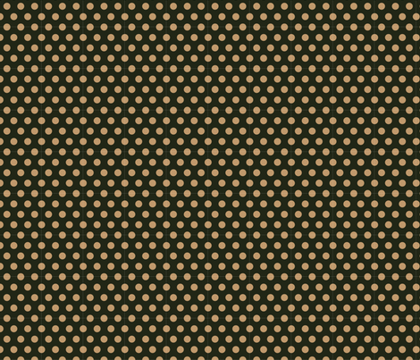 Mocha Dots on Dark Green fabric by jolenebalyeatdesigns on Spoonflower - custom fabric