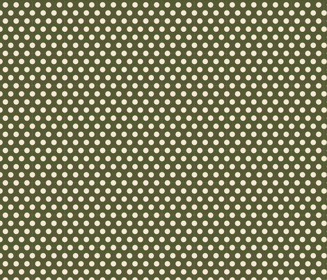 Dots in Cream on Green fabric by thejoyofdesign on Spoonflower - custom fabric